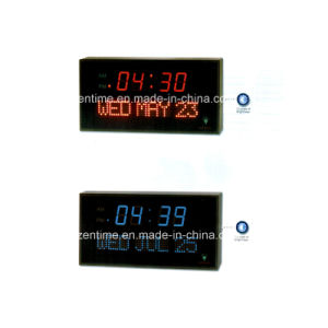 Electronic LED Digital Wall Calendar Clock with Dim Function pictures & photos