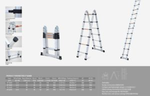 Telescopic Ladder Combination Aluminum Ladder with Joint pictures & photos