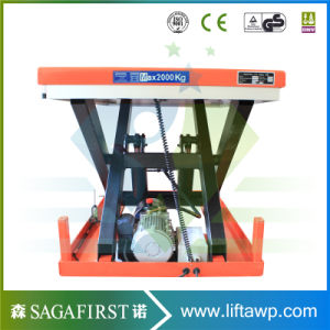 1000kg Custom Stationary Hydraulic Rotary Scissor Lift pictures & photos