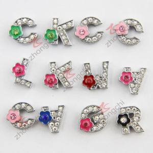 Fashion Rhinestone Metal Flower Alphabet Shoes Ornament (JP08)