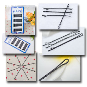 6.2cm Card Packed Black Metal Ball Tip Bob Pins (JE1037) pictures & photos