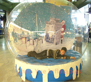 Christmas Backdrop Inflatable Snow Globe for Christmas Decoration (CYAD-1467) pictures & photos