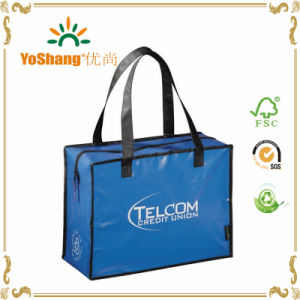 Blue 140GSM PP Non Woven Laminated Zipper Shopping Bag pictures & photos
