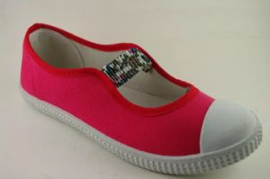 Latest Women Canvas Shoes with Rupper Outsole (NU045)