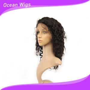 100% Human Virgin Remy Malaysian Hair Wig 14inch Deep Wave Lace Front Wig pictures & photos