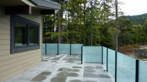 Frosted Glass Railing Price/ Frosted Glass Fance pictures & photos