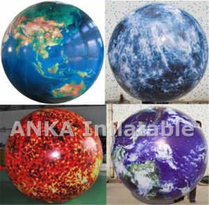 PVC Inflatable Helium Round Football Balloon for Sports pictures & photos
