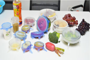 Food Grade Magic Food Fresh Keeping Silicone Stretch Lids pictures & photos