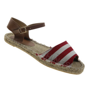 Hemp Rope Sock Fashion Sandal for Women pictures & photos