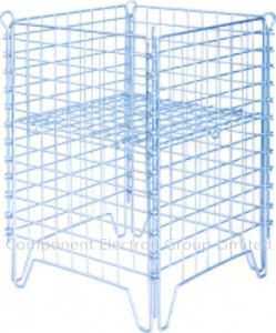 Heavy Mesh Cage, Container Wire Stackable Storage Cage Supermarket Cage pictures & photos