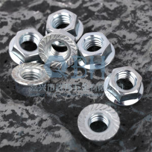 Blue-White Zinc Planted Flange Nuts (DIN6923 Toothed) pictures & photos