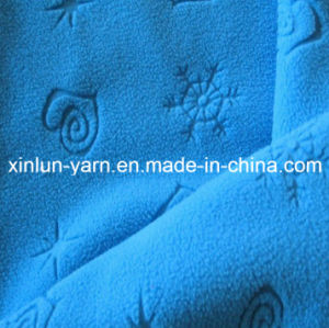 Embossed Sweatshirt Polar Fleece Fabric for Hats/Scarf/Garment pictures & photos
