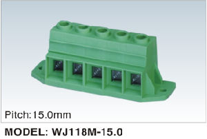 PCB Screw Terminal Block with Sides Lock for Anti-Vibration (WJ118M-15.0) pictures & photos
