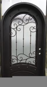 Simple Style Wrought Iron Single Door pictures & photos