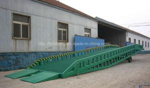 12 Tons Manual-Operated Steel Loading Container Ramp (LZ-YDQ)