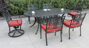 New Design Dynasty 7 PC Dining Set Garden Furniture pictures & photos