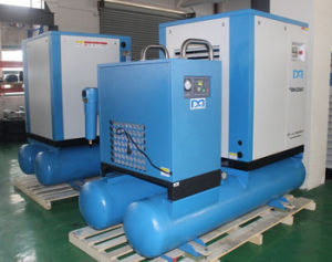 7.5kw 10HP Air Screw Air Compressor with Air Tank Air Dryer pictures & photos