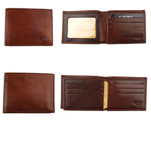 High Quality Italian Vegetable Leather Wallet for Men pictures & photos