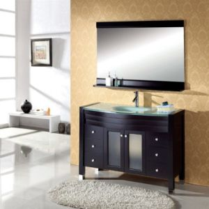 Modern Expresso Solid Wood Bathroom furniture