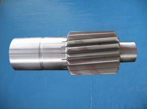 F114 SAE1045 AISI1045n Forging Steel Gear Pinion Shaft pictures & photos
