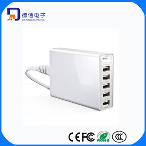Multiple 6 Port USB Charger with Smart Power Technology (MU017) pictures & photos