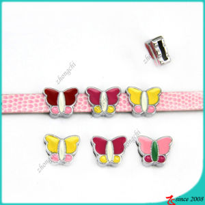 8mm Butterfly Slide Charms for Girl Bracelet Charms (SC16040960)