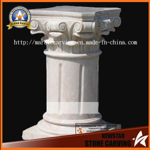 Beige Marble Carving Pedestal Pillars for Decoration pictures & photos