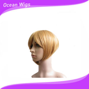 Light Color Short Synthetic Wig pictures & photos