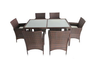 Modern Rattan Cube Set Table Outdoor Dining Set pictures & photos