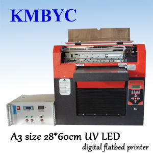 UV Inkjet Pen Printing Machine/ Pen Printer with 6 Colors and A3 Size pictures & photos