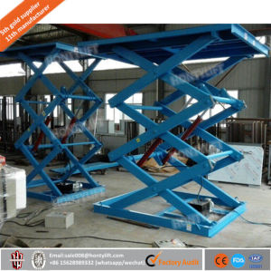 Customized Promotional Scissor Car Lift, Stationary Hydraulic Scissor Lift Table pictures & photos