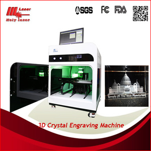 Crystal Engraving Machinery with 3D Laser Technology for Small Business pictures & photos