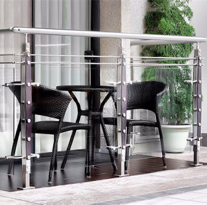HR1362-2 stainless steel with wooden balcony handrail of railing design in India pictures & photos