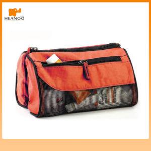Pencil Case Mesh Zipper Toilet Bag pictures & photos