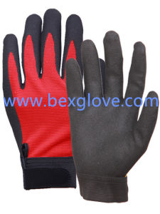 Polyester/ Spandex Liner, Nitrile Coating, Sandy Finish, Cuff with Velcro pictures & photos