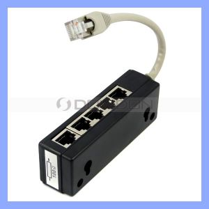 8p8c RJ45 5 Ports Male to Female RJ45 Splitter pictures & photos