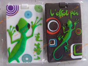 Embossed 3D Rubber Luggage Tag, Lizard Luggage Tag, Pass En71-3, 7p Test