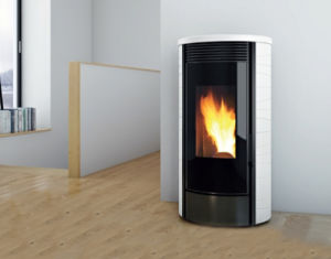 Modern Freestanding Wood Pellet Stove with Remote Control pictures & photos