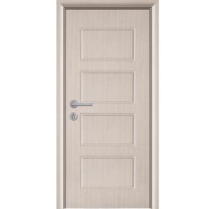 Luxury Veneer Laminated Modern Solid PVC Coated Wood Door