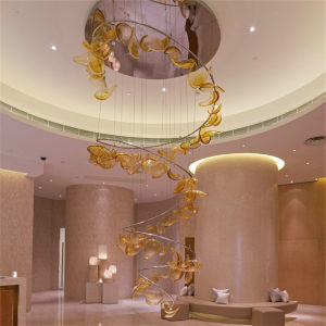 Handmade Spiral Romandic Pendant Lamp Blowing Glass Lighting