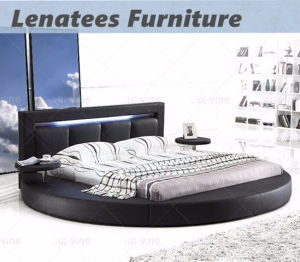 A508 New Design Leather Bed with LED Light pictures & photos
