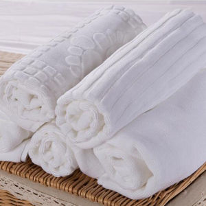 100% Cotton White Hotel Floor Towel Anti-Slip Hotel Bath Mat pictures & photos
