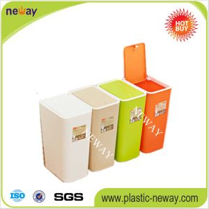 Customized Portable Household Corrugated Plastics Waste Bin Manufacturer pictures & photos