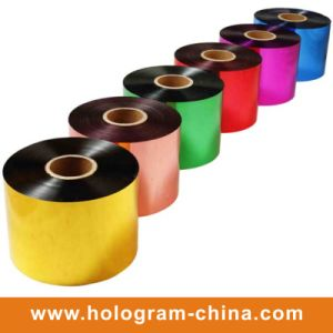 Tamper Evident Colorful Aluminum Embossing Foil pictures & photos