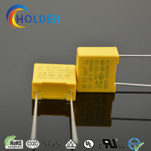 0.1UF 275VAC Safety Capacitor/X2 MKP RoHS Reach Yellow Metallized Polypropylene Film Capacitor for Home Appliance pictures & photos