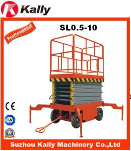 490kg Capacity Electric Mobile Scissor Lifting Platform with 10m (SL0.5-10)