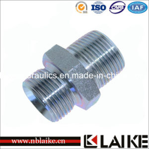 (1BT) Bsp/ BSPT Male Double Use Hydraulic Adapter