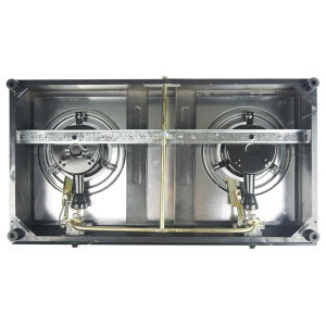 Double Burner Glass Gas Cooker with Full Safety Jp-Gcg210 pictures & photos
