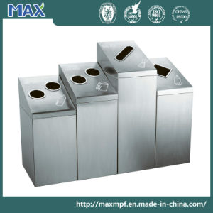 Indoor Round Stainless Steel 4 Container Recycling Wadte Container pictures & photos