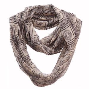 Woman Fashion Apollo Printed Polyester Chiffon Infinity Scarf (YKY1107) pictures & photos
